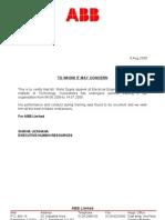 ABB Training Certificate