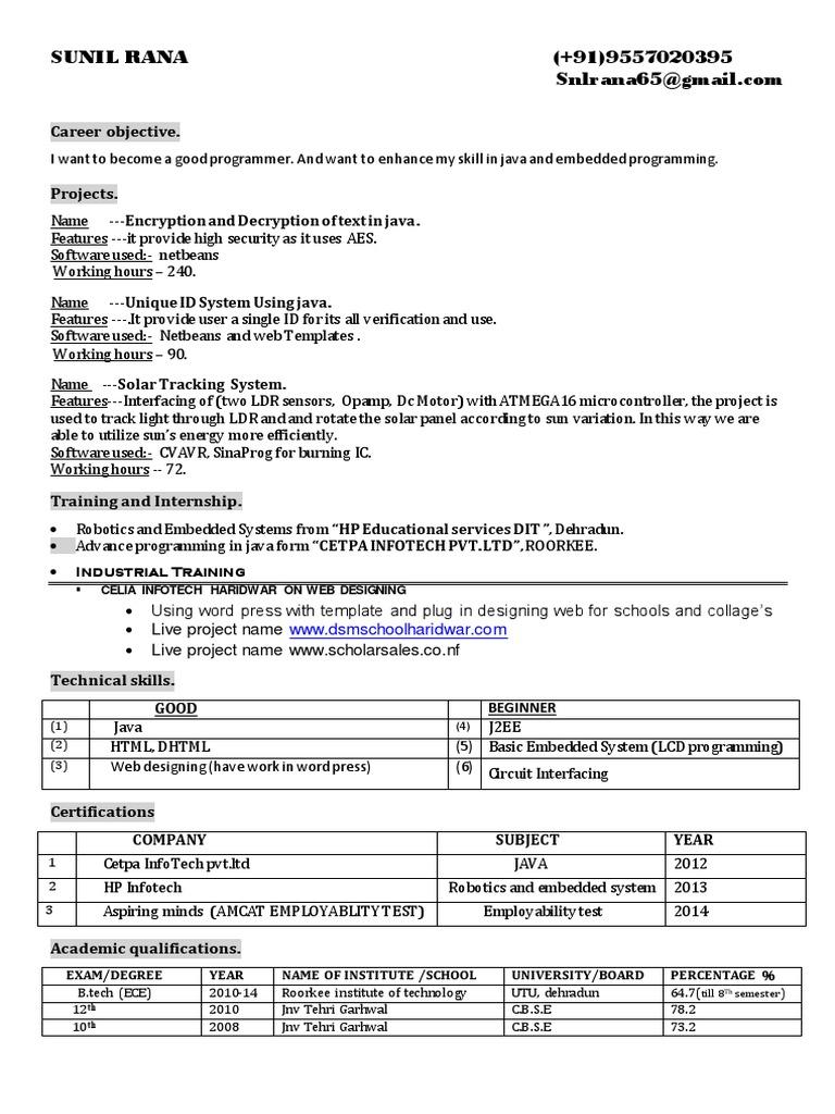 sunil pdf   Java (Programming Language)   Embedded System