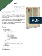 Antiguo Testamento - Reseña