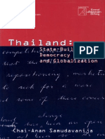 Thailand -State-Building, Democracy and Globalization