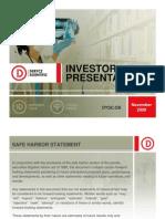 Derycz Scientific Investor Presentation