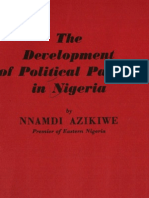 Azikiwe-Development of Political Parites in Nigeria (1957)