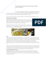 Control of Crystallization of Fats and Oils