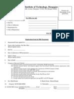 PhD Registration Form