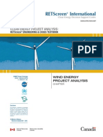 Wind Energy Project Analysis From NR Canada