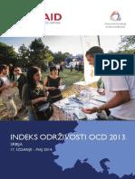 Indeks održivosti OCD u Srbiji za 2013. godinu