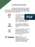 Empresas Que Utilizan SQLite Notoriamente Conocidas
