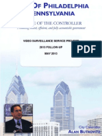 PHILADELPHIA POLICE VIDEO SURVEILLANCE SERVICE PROJECT 2013 FOLLOW-UP MAY 2013