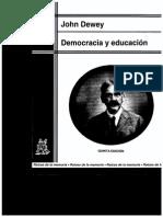 142571162 John Dewey Democracia y Educacion PDF