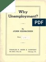Why Unemployment?