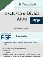 Tributário Exclusão e Divida Ativa