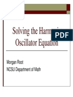 Solving the Harmonic Oscillator Equation