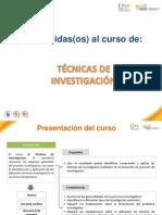 Tecnicas de Investigacion - Presentacion Del Curso Sin Audio