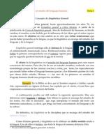 Tema 1. Concepto de Lingüística General.