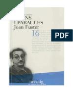 Fuster_Joan - Raons i Paraules