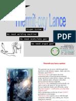 THERMIT-Presentasi Lengkap Thermit-oxy Lance