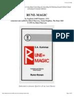 Rune Magic by Siegried Adolf Kummer