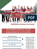 2.- La Determinación Del Valor Monetario de Los Puesto