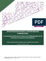 Investigacion Social e Intervencion Comunitaria