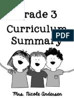 Grade 3 Curriculum Summary