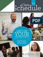 2014 Fall Class Schedule