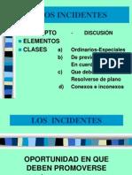 (1) Los Incidentes