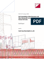 Grid Compatibility of Wind Generators With Hdyro-Dynamically Controled Gearbox With German Grid Codes