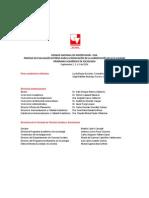 Agenda Visita de Pares Programa Sociologia 2014 Septiembre
