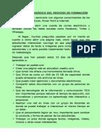 informe pedaggico del proceso de formacin