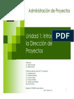 Unidad 1 Introduccion a La Direccion de Proyectos