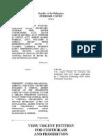 Certiorari Petition Versus Proclamation 1959