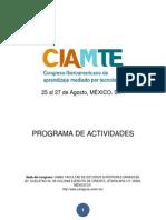 Programa CIAMTE2014