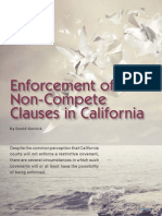 Enforcement of Non-Compete Clauses in California