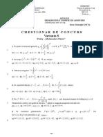 Chestionar Standard Mate Fizica 2006