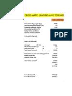 Crosswind Landing and Touchdown Calculations