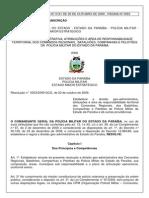 Resolucao 0003 2009 GCG Estabelece a Divisao Geoadministrativa Da Pmpb