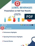 Tata Global Beverages Analyst Presentation 2013 2014 q2 Results