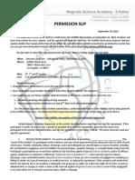 2013 Griffith Permission Slip