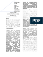 RESOLUCIÓN ADMINISTRATIVA N° 052-2014-CE-PJ