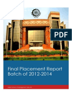 IIM Calcutta 2012-2014 Final Placement Report (1)