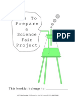 how to prepare a science fair project packet