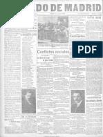 El Heraldo de Madrid. 15-3-1919 - Articulo Sobre Sindicalismo