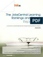 2013 JobsCentral Learning Rankings and Survey Report