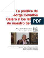La Poética de Jorge Cevallos Calero y Los Latidos de Nuestro Tiempo
