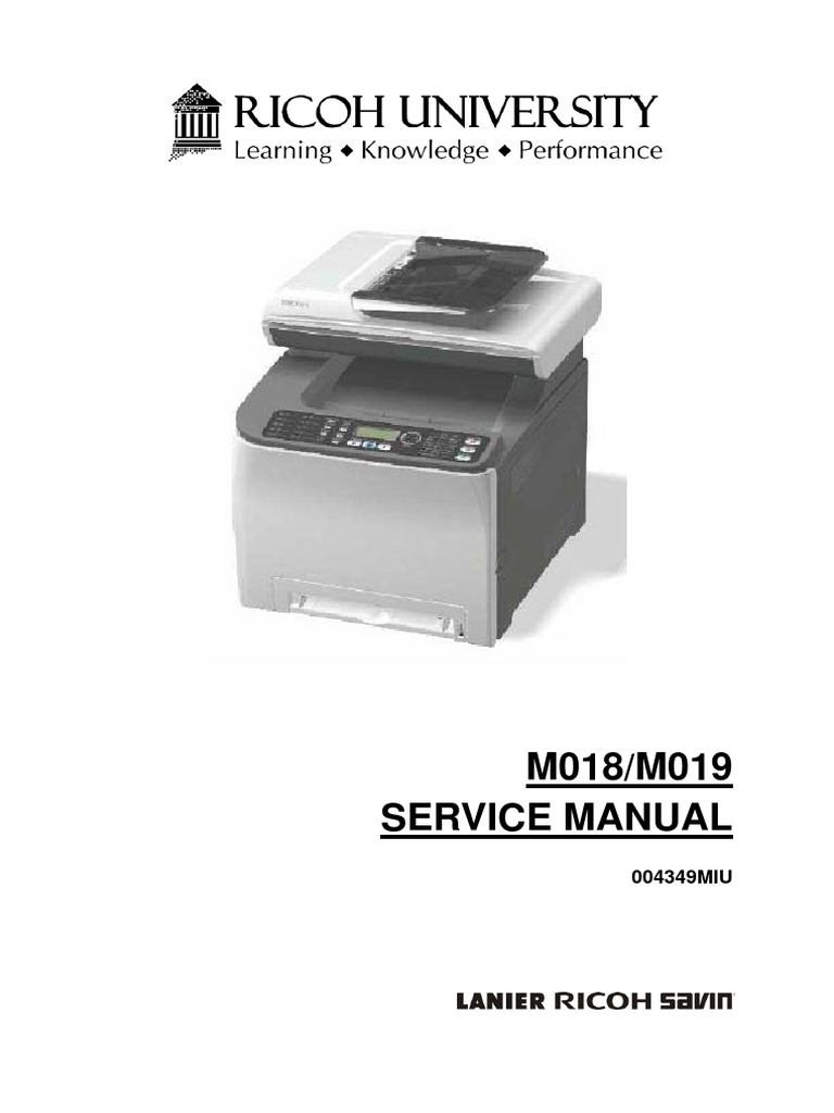 ricoh aficio sp 4100n service manual pdf