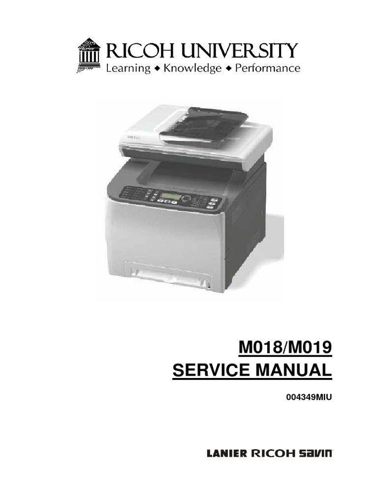 m018 m019 sp c231sf aficio sp c232sf parts service manual rh scribd com Ricoh Aficio 3045 Copier Ricoh Aficio Toner