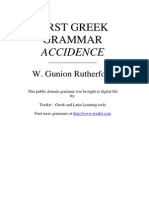 WGR First Greek Grammar Accidence