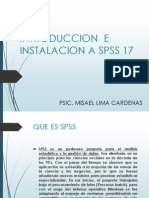 Capitulo 1. Introduccion e Instalacion a Spss 17