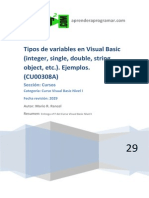 CU00308A Tipos Variables Visual Basic Ejemplos Integer Double String Variant