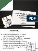 Control de Lc3adquidos Administrados y Eliminados